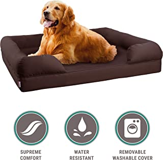 Petlo Orthopedic Pet Sofa Bed - Dog, Cat or Puppy Memory Foam Mattress Comfortable Couch for Pets with Removable Washable Cover