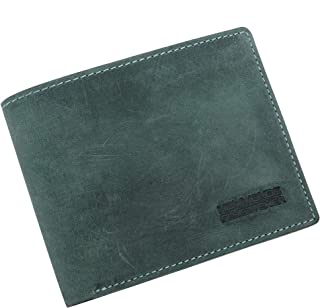 Hammonds Flycatcher Light Turquoise Vintage Leather Wallet for Men|6 Card Slots| 1 Coin Pocket|4 Hidden Compartment|2 Currency Slots|1 ID Compartment
