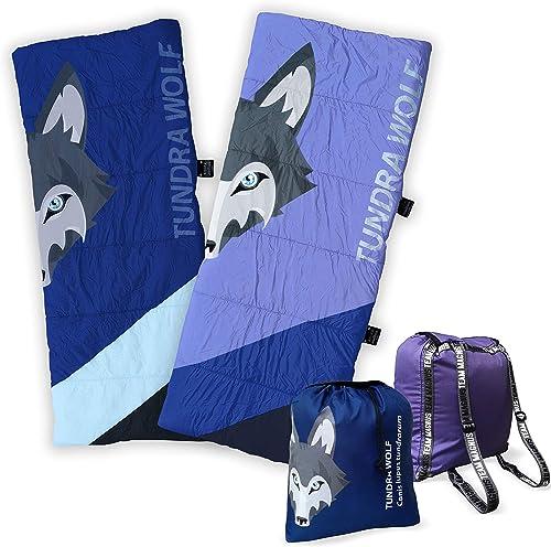 TEAM MAGNUS Saco de Dormir Unisex Tundra Wolf para niños