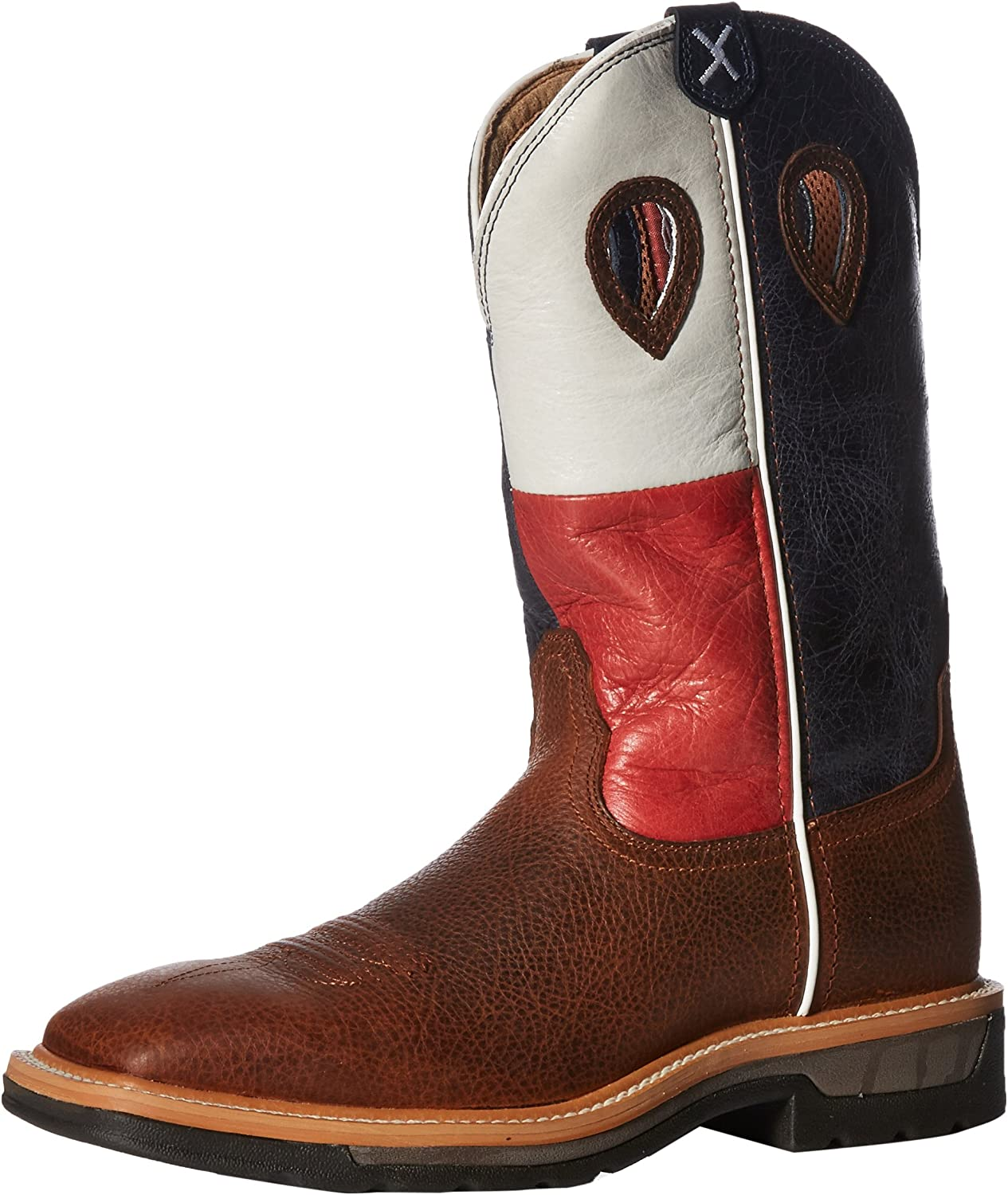 Twisted X Men's Lite Texas Flag Pull-On Work Boot Square Toe