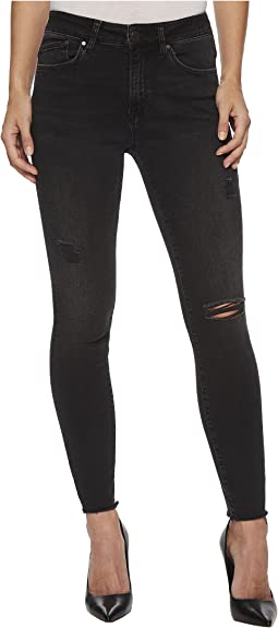 Mavi Jeans - Alissa High-Rise Skinny Ankle in Smoke Ripped Nolita