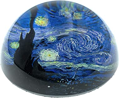 Value Arts Vincent Van Gogh Starry Night Glass Dome Paperweight, 3 Inches Diameter