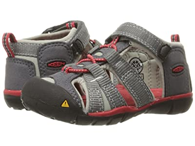 Keen Kids Seacamp II CNX (Toddler) (Magnet/Racing Red) Boys Shoes