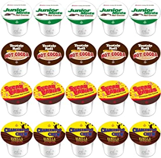 20-Count Original Variety K-Cups For Keurig 2.0 Compatible Hot Cocoa From Tootsie Roll, Junior Mints, Sugar Babies and Charleston Chew Vanilla