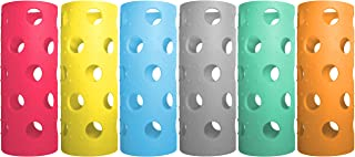 Brieftons Silicone Sleeves: 6-Pack Insulated Anti-Slip Protection Covers, Ultra Thick & Durable, Better Than Neoprene & Ru...