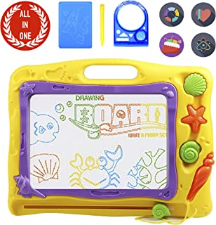 PinSpace Magnetic Drawing Board, 16 Inch Big Size Drawing Sketch Pad Ocean Theme Megasketcher Drawing Doodle Toy, Write and Learn Creative Educational Toys Gift for 3+ Year Old Boys and Girls