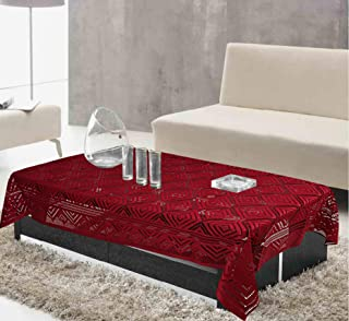 Kuber Industries Cotton 1 Piece 4 Seater Center Table Cover (Maroon)