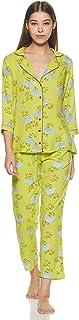 Indigo Women's Night Dress (SS20-IND1212_Green_M)