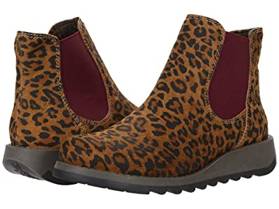 FLY LONDON SALV195FLY (Tan Leather Cheetah Print) Women