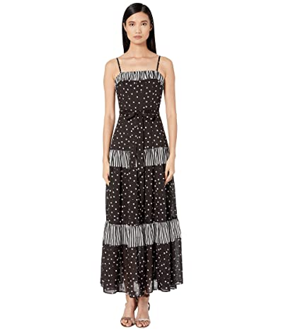 Kate Spade New York Daisy Dot Mixed Maxi Dress (Black) Women