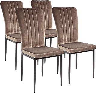 Albatros Silla de Comedor Modena, Set de 4 sillas, marrón, certificada por la SGS