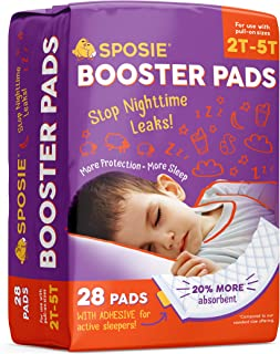 Sposie Adhesive Overnight Diaper Booster Pads for Regular & Pull-On Diapers, Nighttime Protection for Heavy Wetters, Fits ...