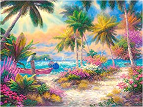 DIY 5D Diamond Painting Kit Beautiful Island Full Drill Diamond Painting Embroidery Cross Picture Arts Craft Gift for Adul...
