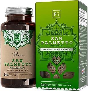 FS Saw Palmetto con Zinc 3000mg por Capsula | 240 Capsulas Veganas