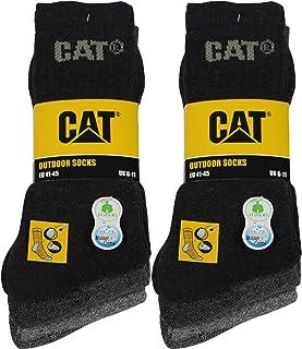 Caterpillar, Outdoor socks 6 pares de calcetines para hombre en algodón suave con control de humedad, puntera y talón reforzados