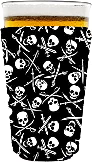Coolie Junction Pirate Pattern Pint Glass Coolie