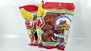 PACK 2 OF CHACA-CHACA AUTHENTIC CANDY OF FRUITS WITH SALT AND CHILI 400gram Authentic Mexican Candy with Free Chocolate Kinder Bar