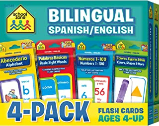 School Zone Bilingual -Flash Card 4 Pack Flash Card (4048)