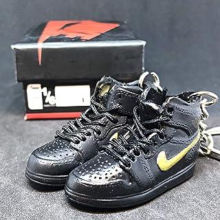 2aab29ae2e37 Pair Air Jordan I 1 Retro Black Gold BHM Black History Month OG Sneakers  Shoes 3D