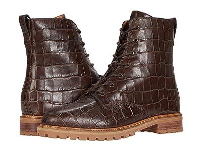Madewell Clair Lace-Up Boot (Dark Coffee Croco) Women