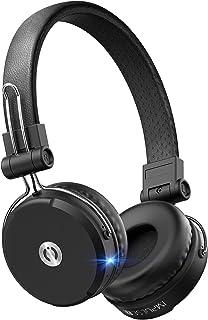 MuveAcoustics Impulse2Pro Wireless On Ear Headphones - Bluetooth Noise Isolating Earphones, Steel Black