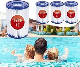 JSHN - Cartuchos filtrantes para piscina Bestway II, tamaño 2, para bomba de filtro Bestway 58094 accesorio de filtro de limpieza de piscina (8)