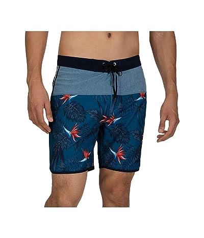 Hurley 18 Phantom Exotic Boardshorts (Industrial Blue) Men