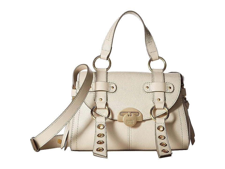 See by Chloe Allen Leather Satchel (Cement Beige) Satchel Handbags