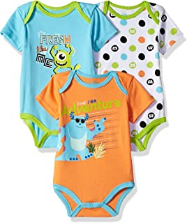 Baby Boys' Monsters Inc 3 Pack Bodysuits