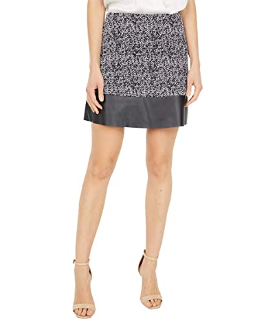 MICHAEL Michael Kors Petite Tweed Leather Miniskirt (Black/White) Women