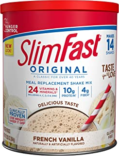 SlimFast – Original Meal Replacement Shake Mix Powder – Weight Loss Shake – 10g of Protein – 24 Vitamins and Minerals Per ...
