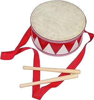 8-inch Kids Drum - Adjustable Strap - Wooden Drumsticks