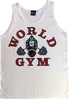 World Gym W321 Tank Top Athletic-Cut Classic Logo