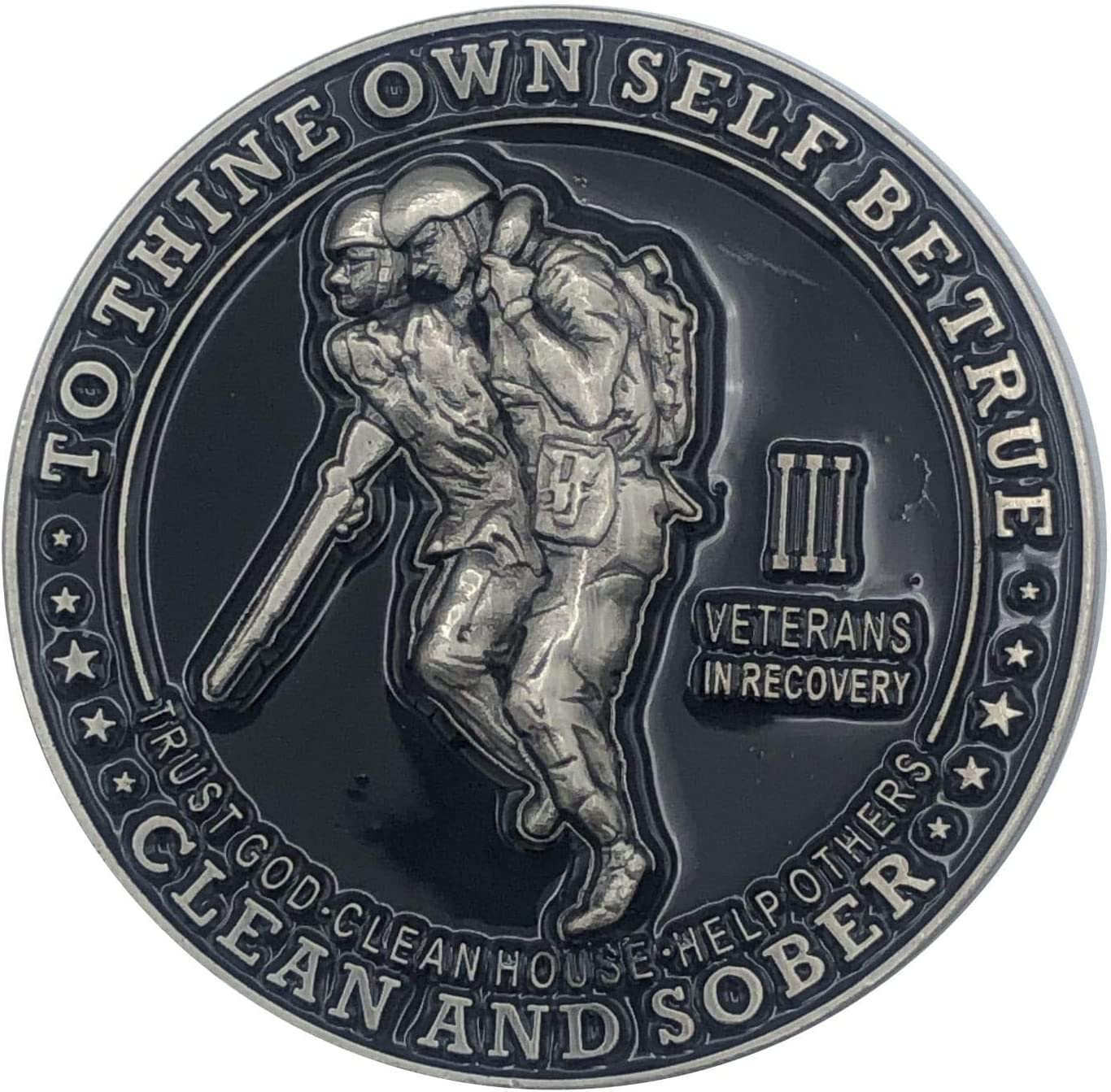 Veterans in Recovery New sales Cheap sale AA Chip Sobriety Years Coin with 1-60 Thi