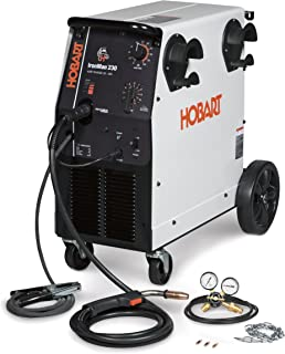 Hobart 500536 Ironman 230 MIG Welder With Wheel Kit & Cylinder Rack