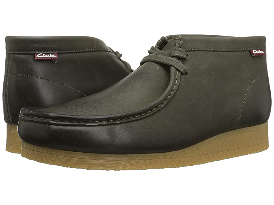 Clarks Stinson Hi (Dark Olive Leather) Men
