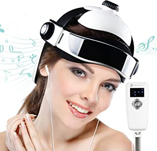 REAQER Electric Head Massager Multifunctional Massage Helmet with Soothing Music and Air Pressure to Relax and Relieve The Headache