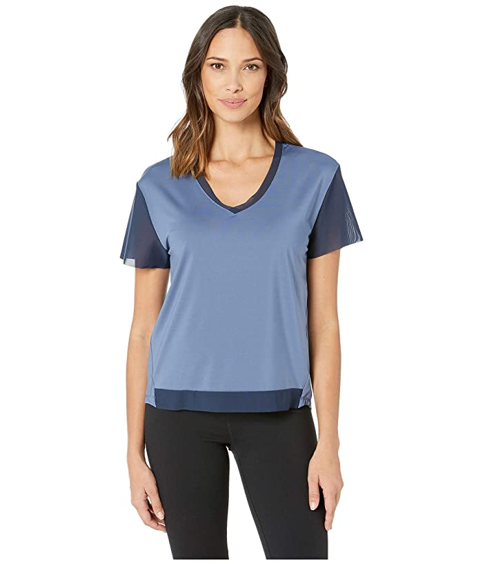 SHAPE Activewear Away Tee (Bijou/Navy) Women
