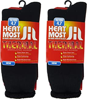DEBRA WEITZNER Mens Thermal Socks - 2 Pair Insulated Heated Socks - Boot Socks For Extreme Temperatures