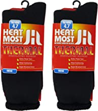 DEBRA WEITZNER Mens Thermal Socks – 2 Pair Insulated Heated Socks – Boot Socks For Extreme Temperatures