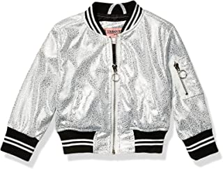 URBAN REPUBLIC Baby-Girls 5123ISL-125 Girls Metallic Foil Bomber Jacket Jacket