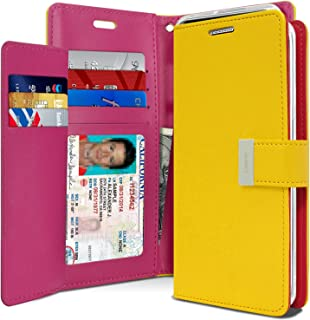 Goospery Rich Wallet for Samsung Galaxy Note 8 Case (2017) Extra Card Slots Leather Flip Cover (Yellow) NT8-RIC-YEL