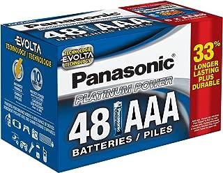 Panasonic Energy Corporation LR03XE/48PC Platinum Power Long Lasting AAA Alkaline Battery, 48 Pack