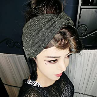 CREAMPP Women Wide Turban Headbands for Yoga Sports Elastic Twisted Head Wrap Workout Hair Bands Cute Hair Accessories for Girls