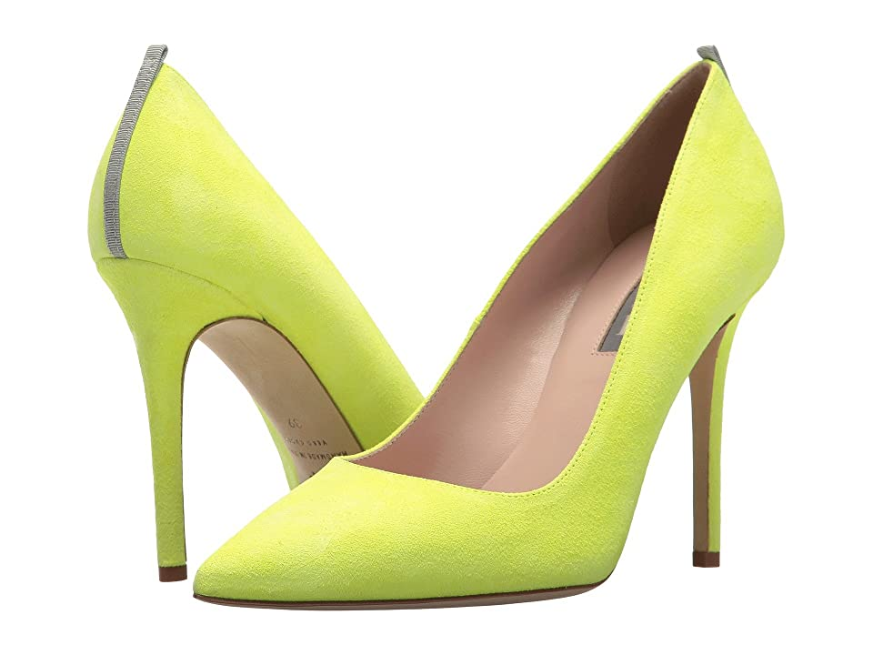 SJP by Sarah Jessica Parker Fawn 100mm (Caution Yellow Suede) Women