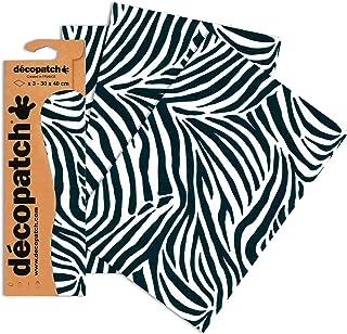 comprar comparacion Decopatch Papel Decorativo 395 x 298 mm diseño de Piel de Leopardo de Piel de Cebra, 3 Unidades