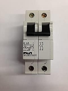 Fuji Electric, CP62DU2, Circuit Breaker, 2A, 2 Pole, D Curve