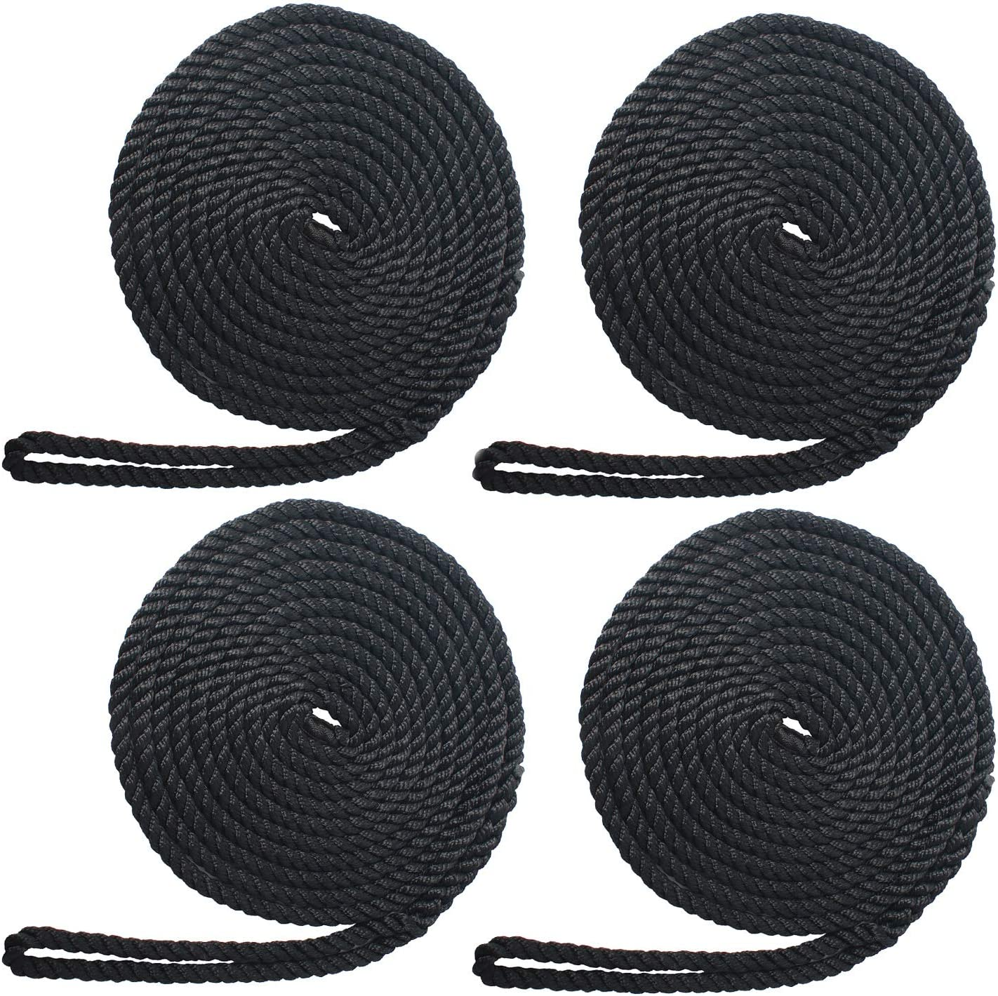 NovelBee 4 Pack of 3 8 Inch 55% Quantity limited OFF Strand Twisted Doc 20 x Nylon Feet