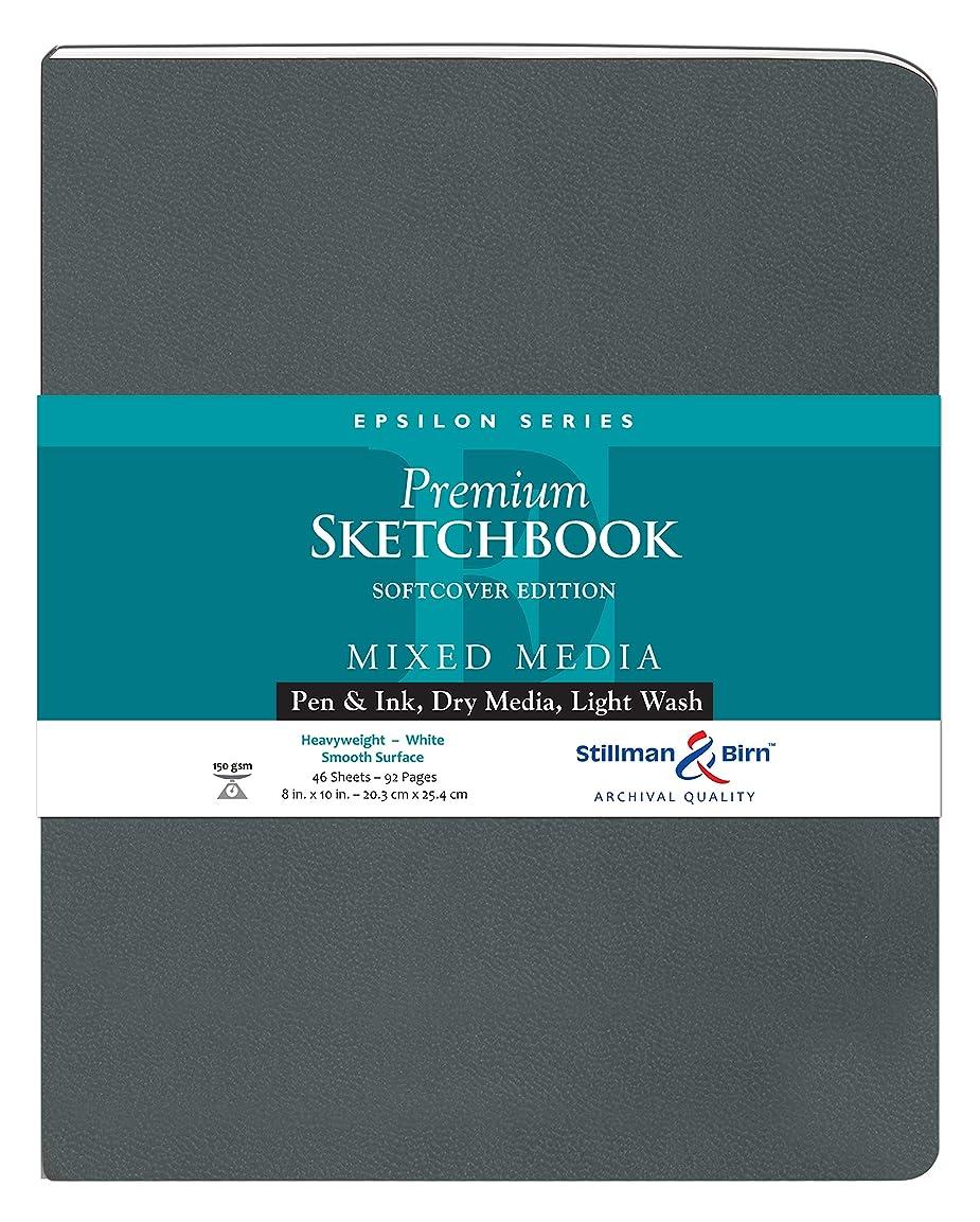 シャンプートロリーバス換気Epsilon Softcover Sketchbook 8X10 by Stillman & Birn