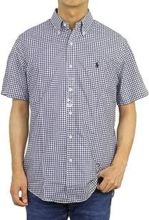 (ポロ ラルフローレン) POLO Ralph Lauren メンズ ボタンダウン 半袖チェックシャツ スタンダードフィット 0104443 [並行輸入品]